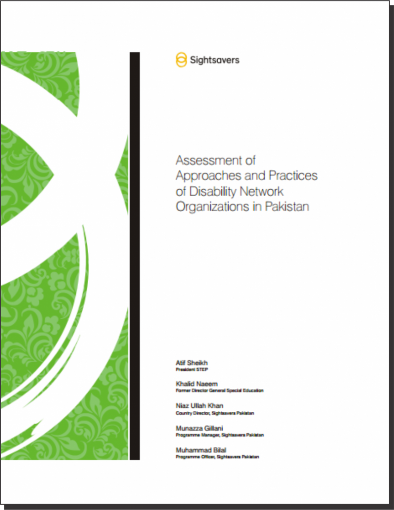 Title Assessment of Approaches and Practices of Disability Network Organization in Pakistan