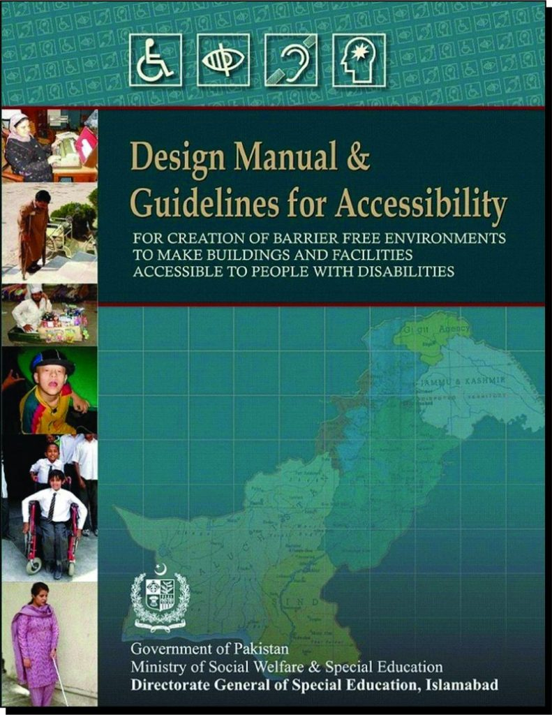 Title Page of Design Manual Guidelines Accessibility