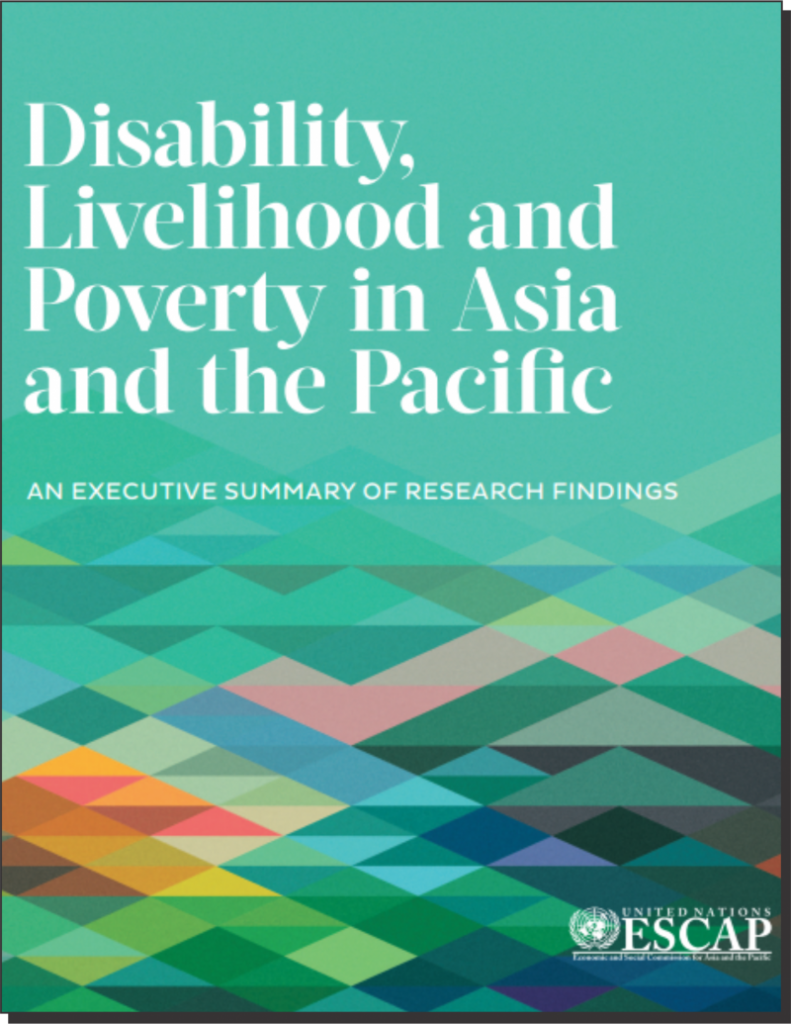 Title Page of Disability Livelihood and Poverty in Asia Pacific