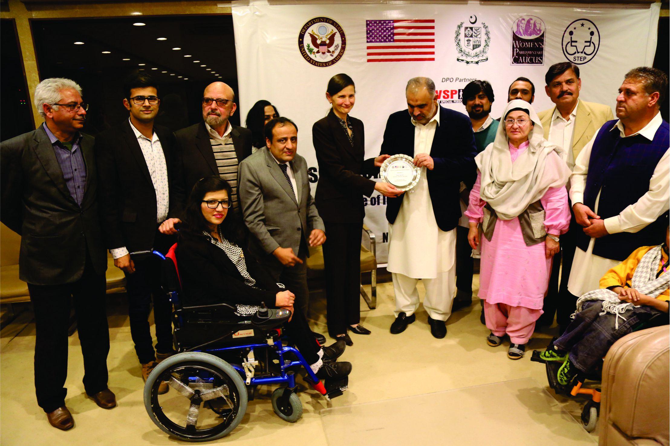 Speaker National Assembly Presenting Shield to US Embassy Representatives